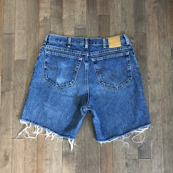 Lee Pants - Vintage Lee boyfriend jean cut off shorts!!!